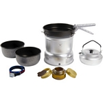 Trangia 27 Series Ultralight Aluminium Non Stick Cookset and Kettle with Spirit Burner (Trangia 27-6)