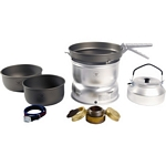 Trangia 27 Series Ultralight Hard Anodized Aluminium Cookset and Kettle with Spirit Burner (Trangia 27-8)