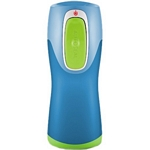 Contigo Autoseal Kids Water Bottle (Blue with Green button) (Contigo 1000-0002)