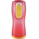Contigo Autoseal Kids Water Bottle (Pink with Yellow button) (Contigo 1000-0006)