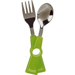 FUEL Snap 2 Piece Cutlery Set (Green) (Trudeau 30701998)
