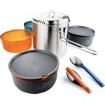 GSI Outdoors Glacier Stainless Steel Dualist Ultralight Backpacking Cookset (GSI 68144)