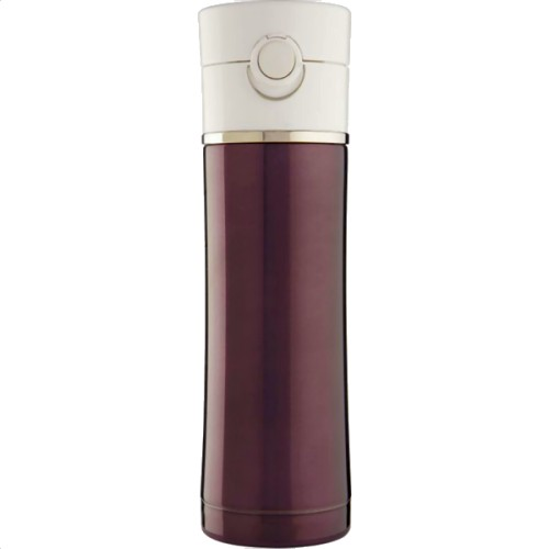 Thermos Discovery Stainless Steel Drinks Bottle - Plum/White (470 ml) (Thermos 191084)