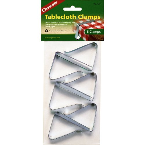 Coghlan's Tablecloth Clamps (Pack of 6) (Coghlan's 527)