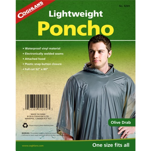 Coghlan's Lightweight Poncho Olive Drab (Coghlan's 9269)