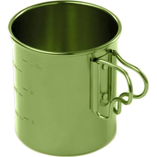 GSI Outdoors Bugaboo Folding Handle Cup - 414 ml (Green) (GSI Outdoors 43213)