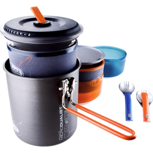 GSI Outdoors Halulite MicroDualist Ultralight Backpacking Cookset (GSI Outdoors 50147)