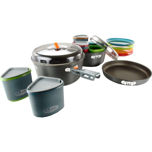 GSI Outdoors Gourmet Camping Pinnacle Camper Family Cookset (GSI Outdoors 50181)