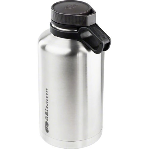 GSI Outdoors Glacier Stainless Beer Growler - 1892 ml (Brushed Silver) (GSI Outdoors 63364)