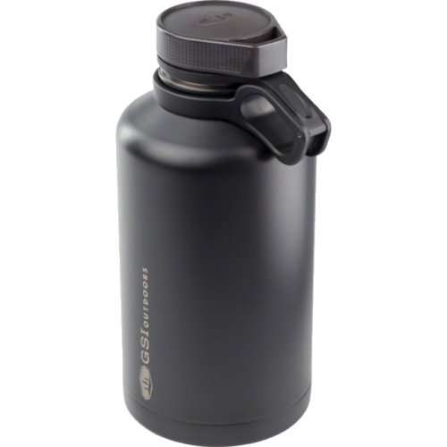 GSI Outdoors Glacier Stainless Beer Growler - 1892 ml (Black) (GSI Outdoors 63366)
