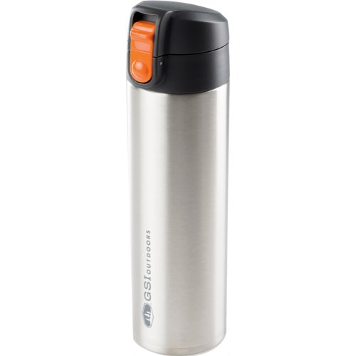 GSI Outdoors Microlite 500 Flip Vacuum Bottle - 500 ml (Glacier Stainless Silver) (GSI Outdoors 67110)