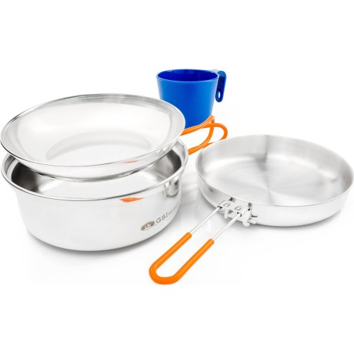 GSI Outdoors Glacier Stainless 1 Person Mess Kit (GSI 68125)