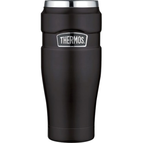 Thermos Stainless Steel King Travel Tumbler - Matt Black (470 ml) (Thermos 101556)