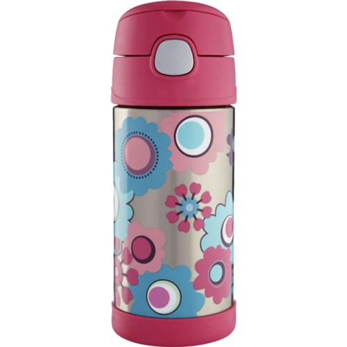 Thermos FUNtainer Hydration Bottle - Pink Floral (355 ml) (Thermos 186391)