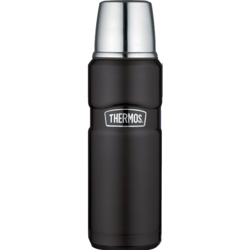 Thermos Stainless Steel King Flask - Matt Black (470 ml) (Thermos 190755)
